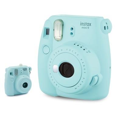 Fujifilm instax Açik Mavi Minyatür mini 9 Anahtarlik Renkli